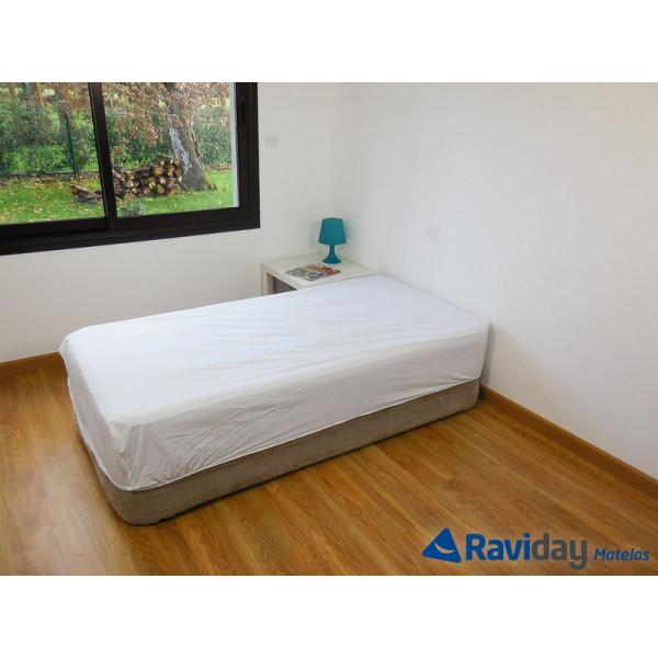 Sábana ajustable 1 persona para colchón hinchable