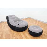 Sillón hinchable y reposapiés Intex