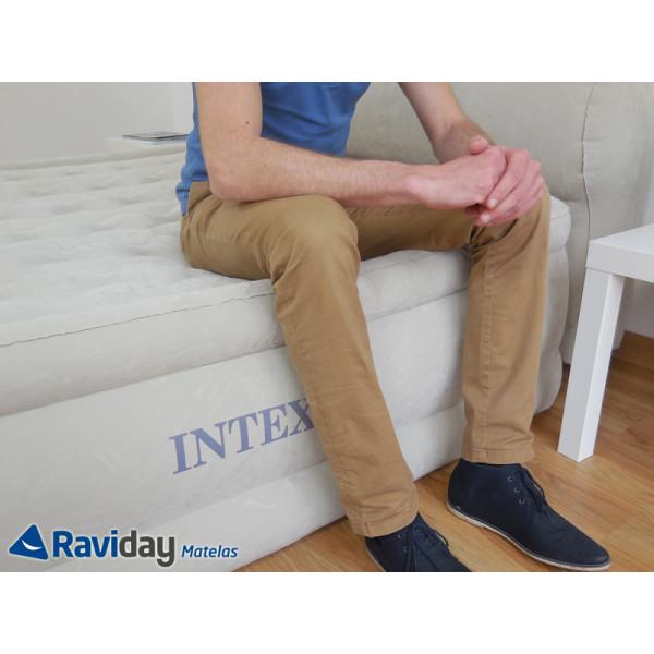 Cama hinchable Intex Headboard Bed Fiber-Tech 2 personas