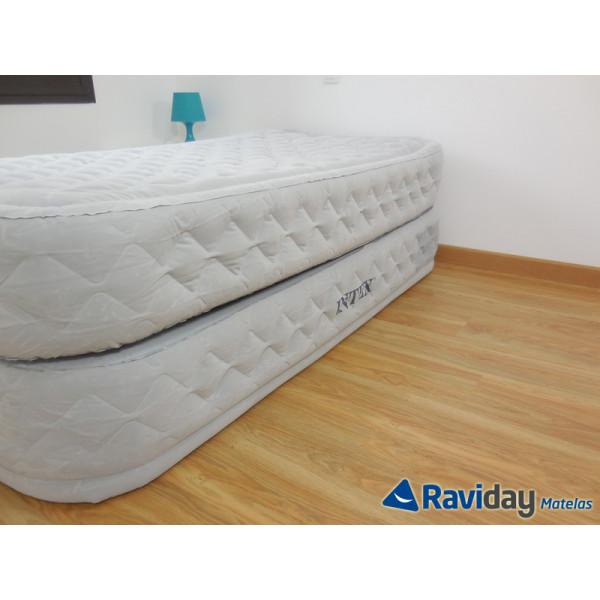 Colchón hinchable eléctrico Intex Supreme Bed Fiber-Tech 1 persona