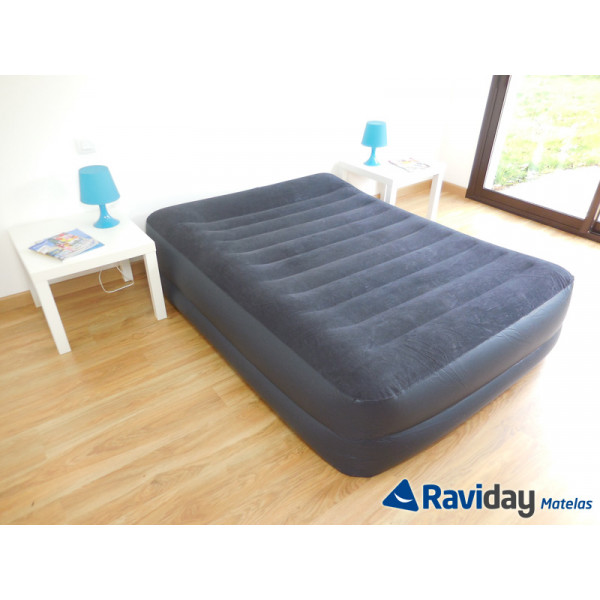 Colchón hinchable eléctrico Intex Rest Bed Fiber-Tech 2 personas