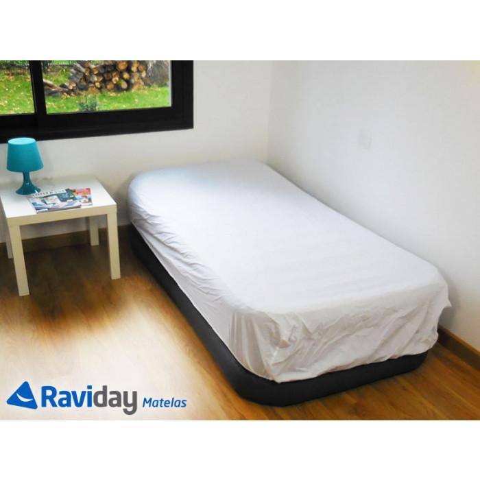 Colchón hinchable eléctrico Intex Rest Bed Deluxe Fiber-Tech 1 persona